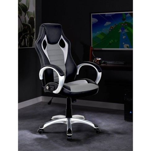 Admirable Office Sound Chair 2 0 Bluetooth Black Gray X Rocker Andrewgaddart Wooden Chair Designs For Living Room Andrewgaddartcom