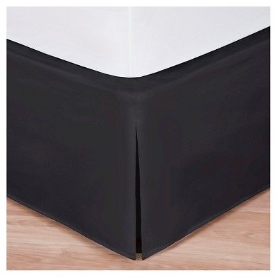 Magic Skirt Wrap-around Tailored Bed Skirt - Black (Queen)
