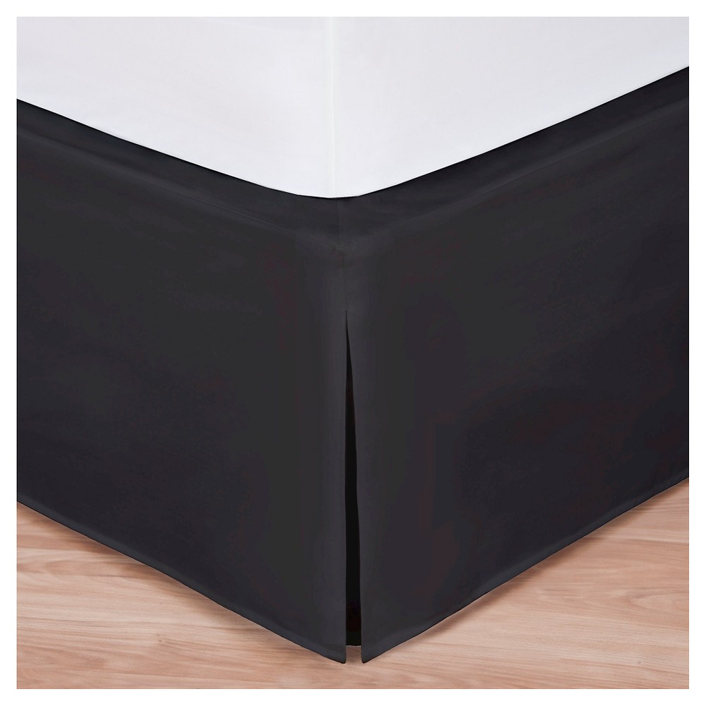 Image of Magic Skirt Wrap-around Tailored Bed Skirt - Black (King)
