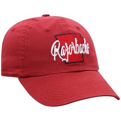 NCAA Arkansas Razorbacks Women's State Washed  Cotton Hat