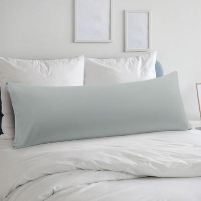 "Body(20""x48"") Microfiber Silky-Soft with Envelope Closure Pillow Cases Light Grey - PiccoCasa"