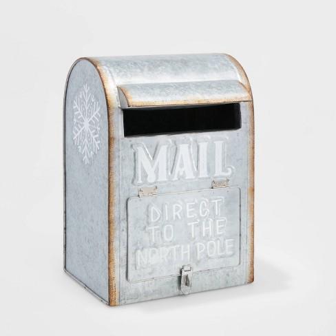 Galvanized Mailbox Christmas Decorative Figurine Silver Large - Wondershop™ - image 1 of 1