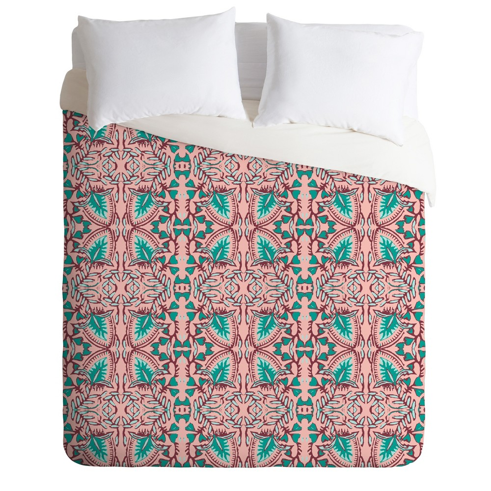 Pink Geo Holli Zollinger Maia Duvet Cover (King) - Deny Designs