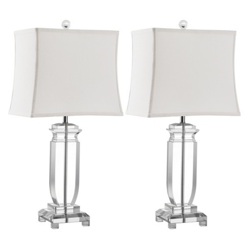 Table Lamp - Clear/White - Safavieh® - image 1 of 5