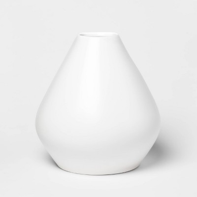 "13.1"" x 12.3"" Matte Ceramic Bud Vase White - Project 62™"