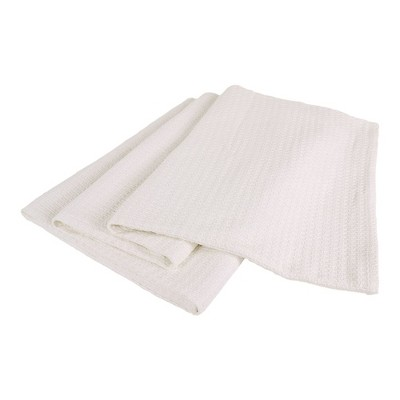 Elite Home 66 x 90 Inch Soft Lightweight All Season Grand Hotel Cotton Basket Weave Throw Blanket for Couch, Sofa, or Bed, Twin, White
