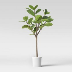 5.8ft Artificial Tree in Pot Green/White - Threshold™