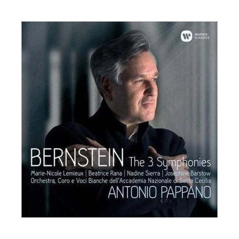 Antonio Pappano - Bernstein: Symphonies Nos. 1-3, Prelude, Fugue & Riffs (CD) - image 1 of 1