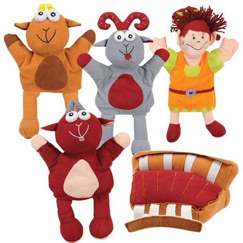 Marvel Education Company Three Billy Goats Gruff Puppets and Props - image 1 of 1