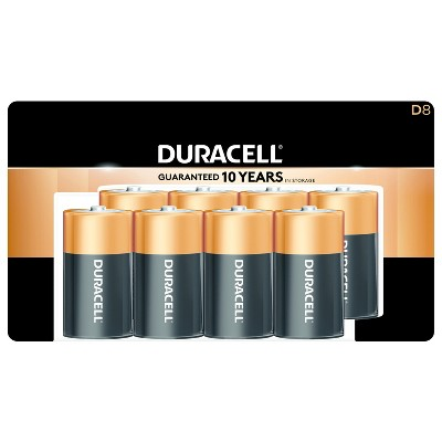 Duracell Coppertop D Batteries - 8ct