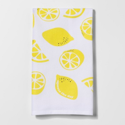 Citrus Pear Lemon Kitchen Towel White/Yellow - Project 62™