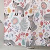 Pixie Fox Shower Curtain Gray/Pink - Lush Dcor - image 4 of 4