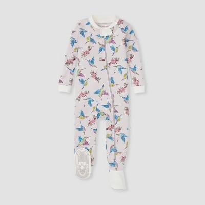 Burt's Bees Baby® Baby Girls' Early Bird Footed Pajama - White