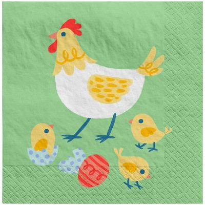 30ct Beverage Easter Napkin Party Rooster - Spritz™