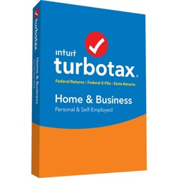 Intuit TurboTax Home & Business Federal + State 2018