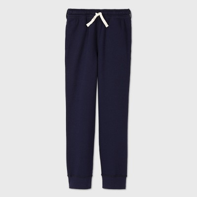 Boys' Adaptive Fleece Jogger Pants - Cat & Jack™ Navy