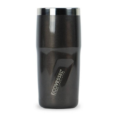 EcoVessel 16oz Metro Insulated Stainless Steel Tumbler and Travel Mug - Gray