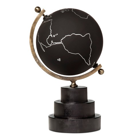 Black Globe with Triple Wood Base - Go Home - image 1 of 1
