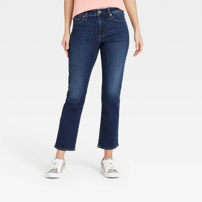 Women's High-Rise Slim Straight Fit Cropped Jeans - Universal Thread™
