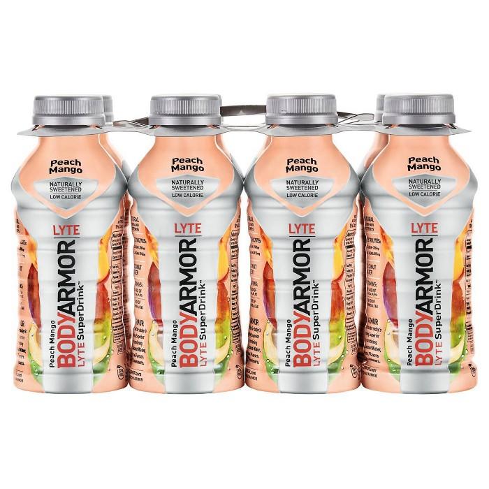 BODYARMOR Peach Mango LYTE Sports Drink - 8pk/12 fl oz Bottles - image 1 of 2