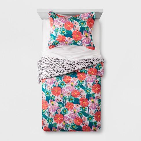 floral jungle comforter set pillowfort target. Black Bedroom Furniture Sets. Home Design Ideas