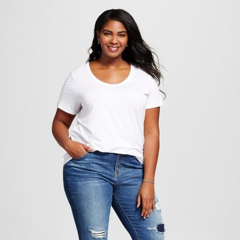 e2b6e6a161f Women s Plus Size Perfect Short Sleeve T-Shirt - Ava   Viv™