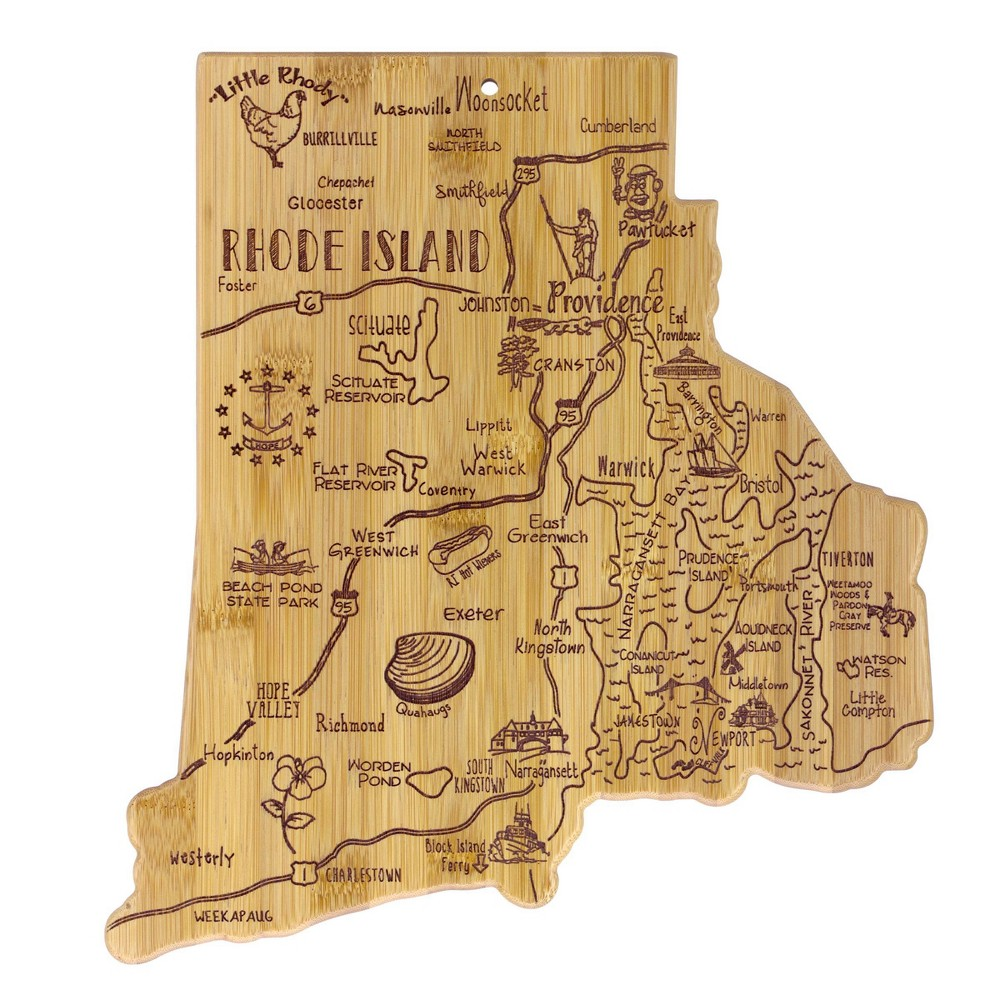 Best Totally Bamboo Destination Rhode Island Serving and Cutting Board