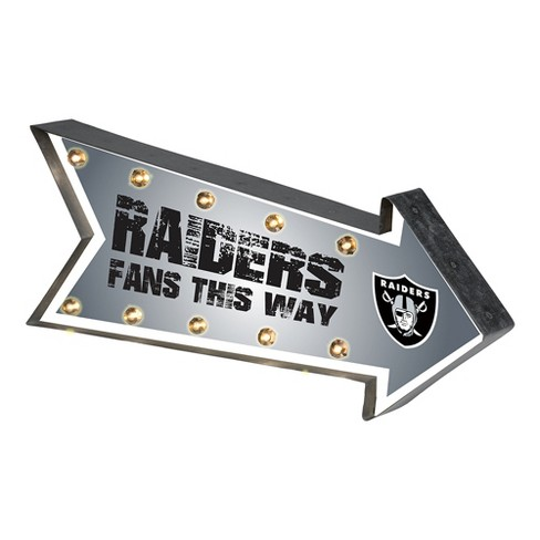 NFL Oakland Raiders Arrow Light Up Marquee Sign - image 1 of 1