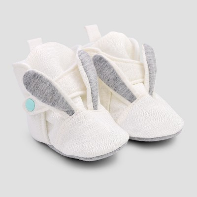 Baby Girls' Bunny Wrap Slipper Boots - Cat & Jack™ White 3-6M