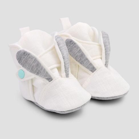 aea74fb4d916 Baby Girls  Bunny Wrap Slipper Boots - Cat   Jack™ White   Target