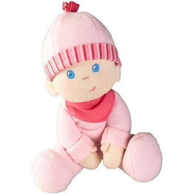 """HABA Snug-up Dolly Luisa 8"""" My First Baby Doll - Machine Washable and Infant Safe for Birth and Up"""
