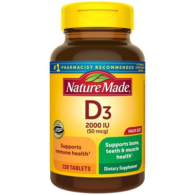 Vitamins & Supplements: Nature Made Vitamin D3 Tablets