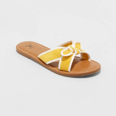 Women's Lorelei Crossband Bow Sandals - Shade and Shore™ Yellow