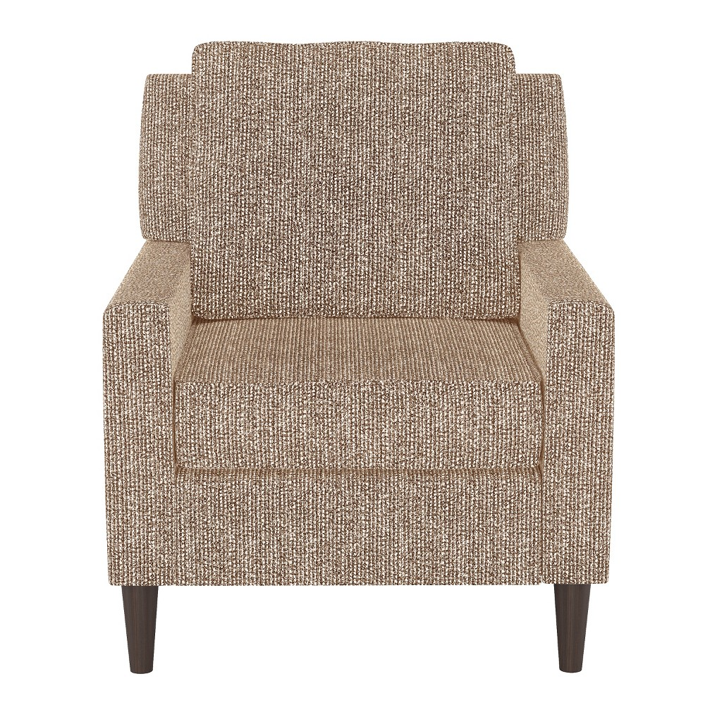 Custom Upholstered Arm Chair Brown/Cream (Brown/Ivory) - Skyline Furniture