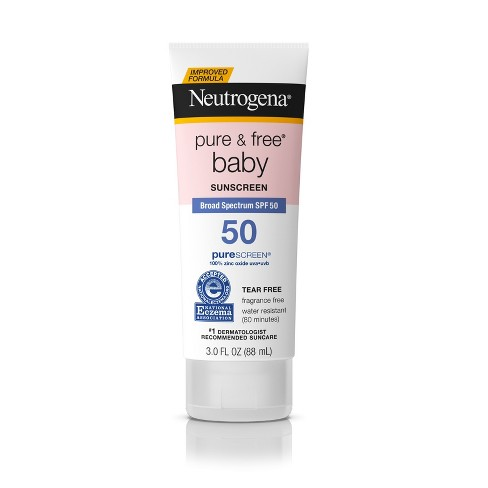 Neutrogena Pure & Free Baby Sunscreen Lotion - SPF 50 - 3 fl oz - image 1 of 8