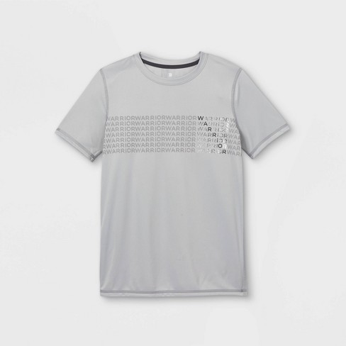Boys' Short Sleeve 'Warrior' Graphic T-Shirt - All in Motion™ Silver - image 1 of 2