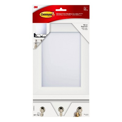 Command Mirror Organizer White