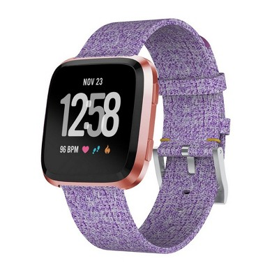 Zodaca Fitbit Versa Wristband Replacement Woven Wristband Watch Strap Sport Band with Metal Buckle Clasp For Fitbit Versa Smart Watch