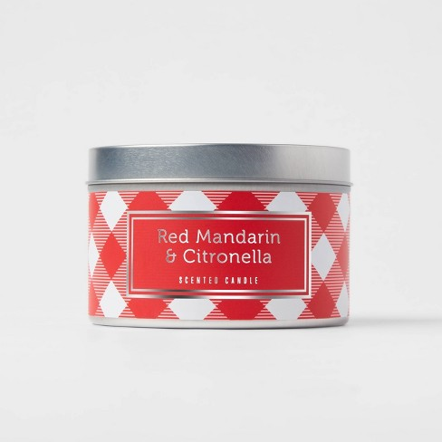 9oz Jar 2-Wick Americana Citronella Red Mandarin Candle - Sun Squad™ - image 1 of 3