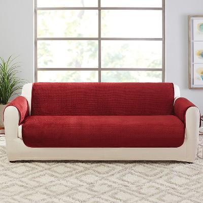 Elegant Pick Stitch Sofa Furniture Cover Paprika   Sure Fit : Target
