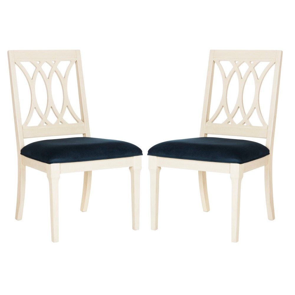 Set of 2 Dining Chairs Navy (Blue) - Safavieh