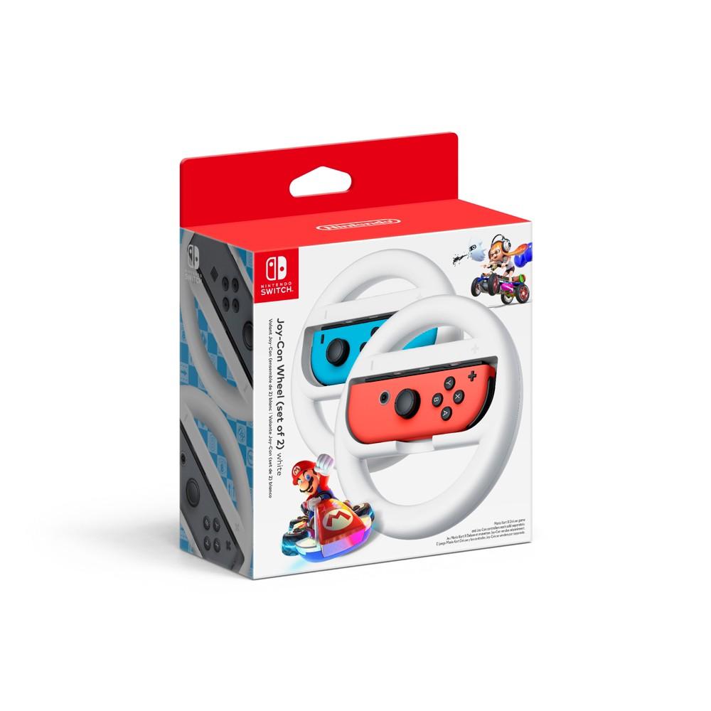 Nintendo Joy-Con Wheel Set of 2 - White, Black Nintendo Joy-Con Wheel Set of 2 - White Color: Black. Pattern: Solid.