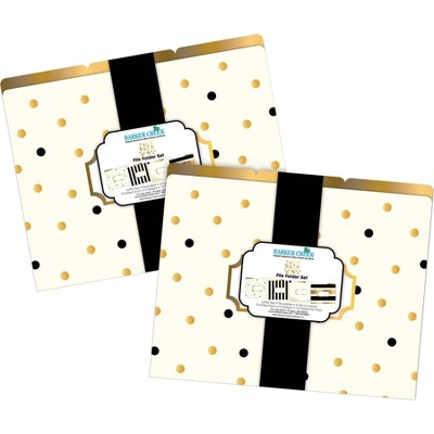 File Folders Multi-Design 24 per Set Letter Size Gold - Barker Creek