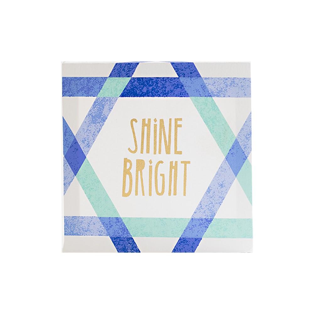 Hanukkah Shine Bright Wall Canvas White