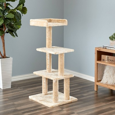 Two by Two Sycamore Cat Tower - Beige