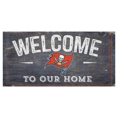"NFL Tampa Bay Buccaneers Fan Creations 6""x12"" Welcome Distressed Sign"