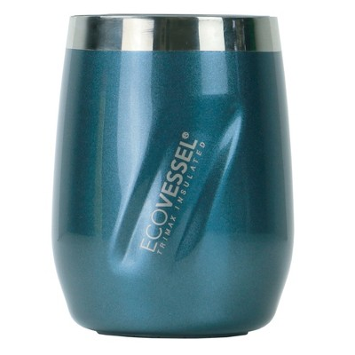 EcoVessel PORT 10oz Insulated Stainless Steel Stemless Wine Glass / Whiskey / Cocktail Tumbler