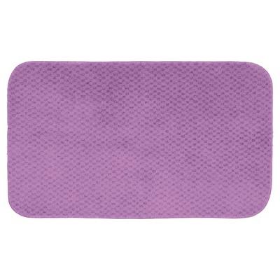 """24""""x40"""" Cabernet Nylon Washable Bath Rug Purple - Garland"""