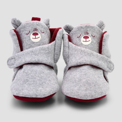 Baby Boys' Blocked Bear Constructed Bootie Slipper - Cat & Jack™ Brown 3-6M