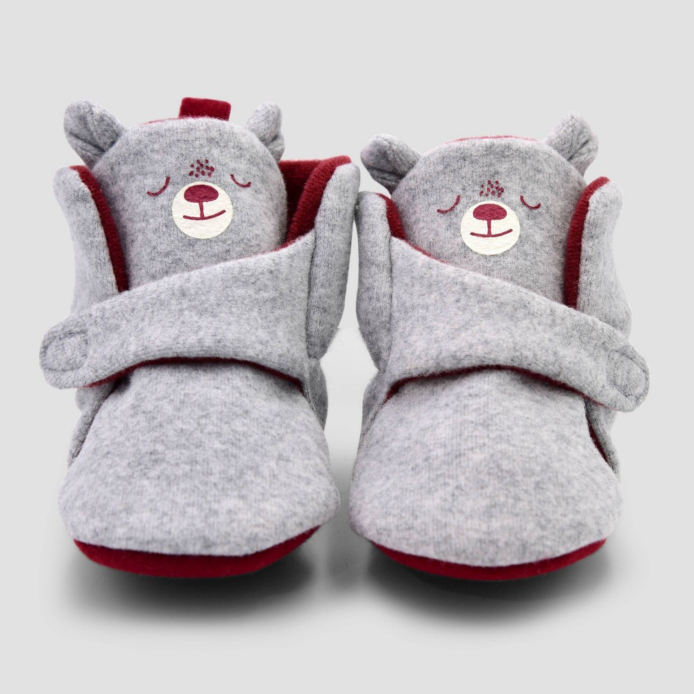 Image of Baby Boys' Blocked Bear Constructed Bootie Slipper - Cat & Jack Brown 0-3M, Boy's